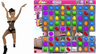 Candy Crush - How To Beat Level 385 in Candy Crush Walkthrough Saga - No Boosts - Score 259,720