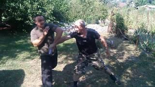 айкидо защита от  ножа в динамике в бою