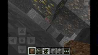 minecraft pocket edition awesome seed iron gold redstone diamonds at spawn coal ep 16