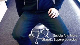 Hydraulic Adjustable Chrome Tattoo Salon Stool Massage Color Spa Foot Rest