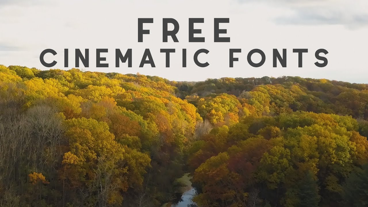 20 Cinematic Fonts // How to Download FREE