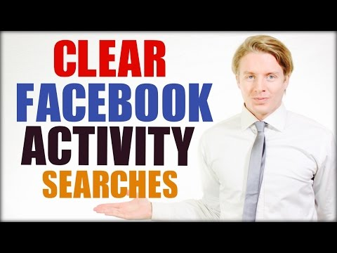 How to clear and delete Facebook search history in activity log 2016