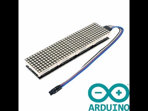 Бегущая строка с русскими буквами на Arduino и Max7219 8x8
