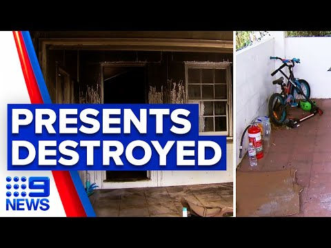 House fire destroys Christmas presents | 9 News Australia thumbnail