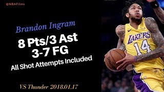Brandon Ingram 8 Points, 3-7 FG all shot attempts included 2018.01.17
