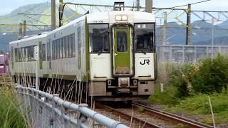 JR奥羽本線、大館駅のキハ110系気動車 thumbnail