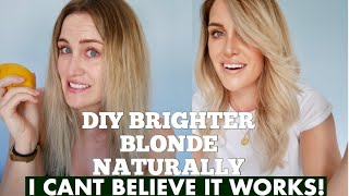 DIY: HOW TO LIGHTEN HAIR NATURALLY WITH NO BLEACH!