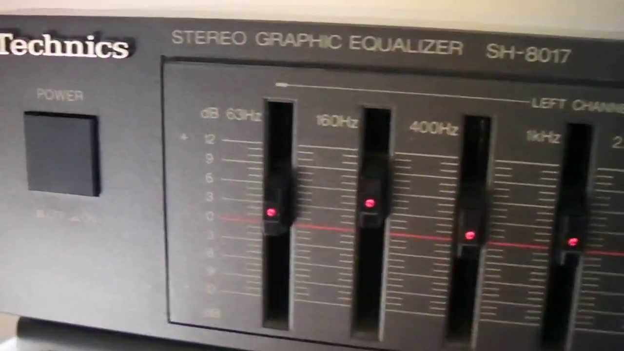 hight resolution of technics sh 8017 graphic equalizer sn 0a4cb71184 youtube