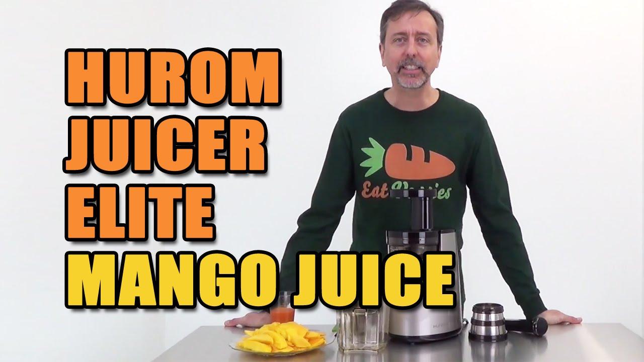 Hurom Juicer Elite Mango Juice - YouTube