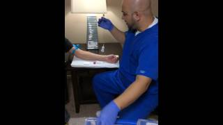 Demo speech -how to conduct a venous blood draw