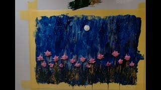 Very Easy Acrylic Abstract Flower Field Painting Idea For Beginners By A Beginner