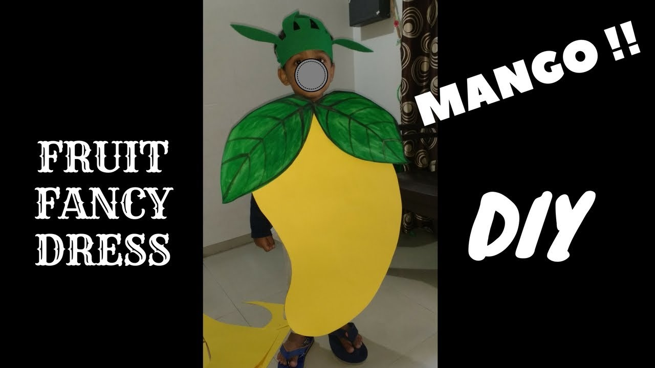 How To Make Mango Dress Costume For Kids From Paper At Home Easily Diy At Home