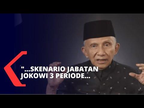 Amien Rais: Ada Skenario Jabatan Jokowi 3 Periode
