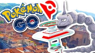 CLIMBING TO THE TOP OF THE GYM!! | Pokemon GO in Bologna, Siena, Italy w/ThinksWife