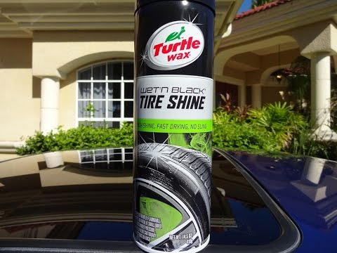 Turtle Wax Wet N Black Tire Shine 2016 Aerosol Review And Test On A Honda Prelude
