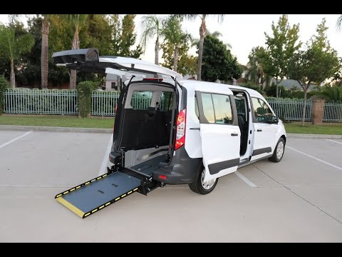 Ford Transit Connect Wheelchair Access Van by Sunset Vans-Rear Entry Manual Folding Wheelchair Ramp