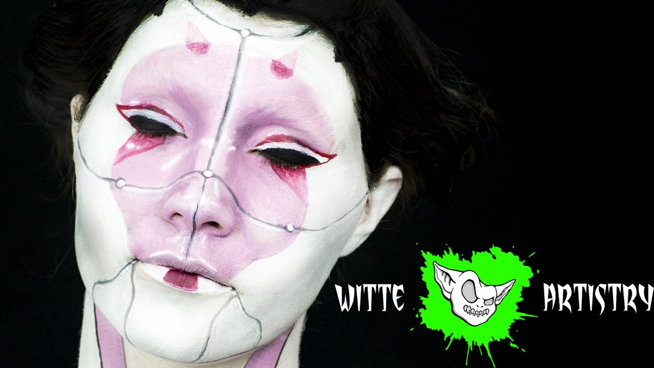 GHOST IN THE SHELL Geisha Cosplay Makeup Tutorial (Bodypaint) in 4k- Witte Artistry