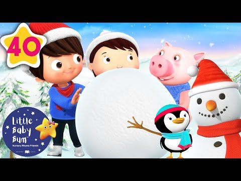 Let's Make a Snowman | Christmas Songs for Kids | Baby Songs |+More Nursery Rhymes | Little Baby Bum