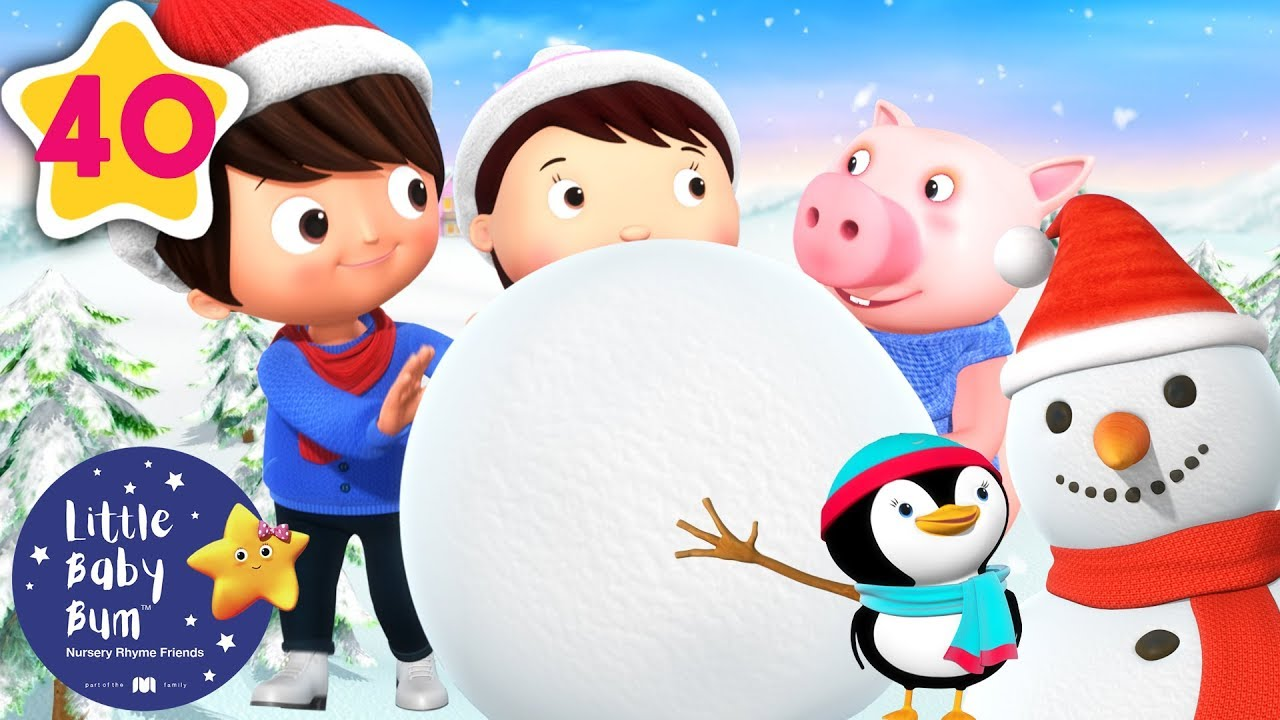 Lets Make a Snowman | Christmas Songs for Kids | Baby Songs |+More Nursery Rhymes | Little Baby Bum