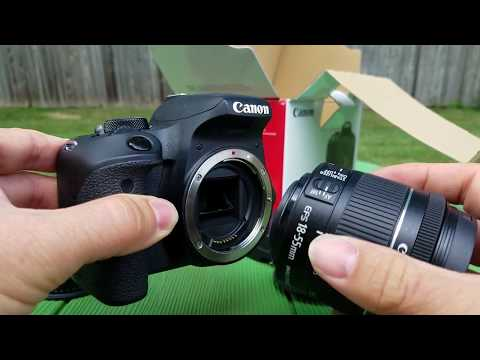 Canon Rebel EOS T7i Tutorial with Demos part 1