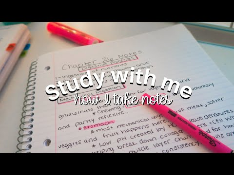 Study with me- how I take notes | PrePA student