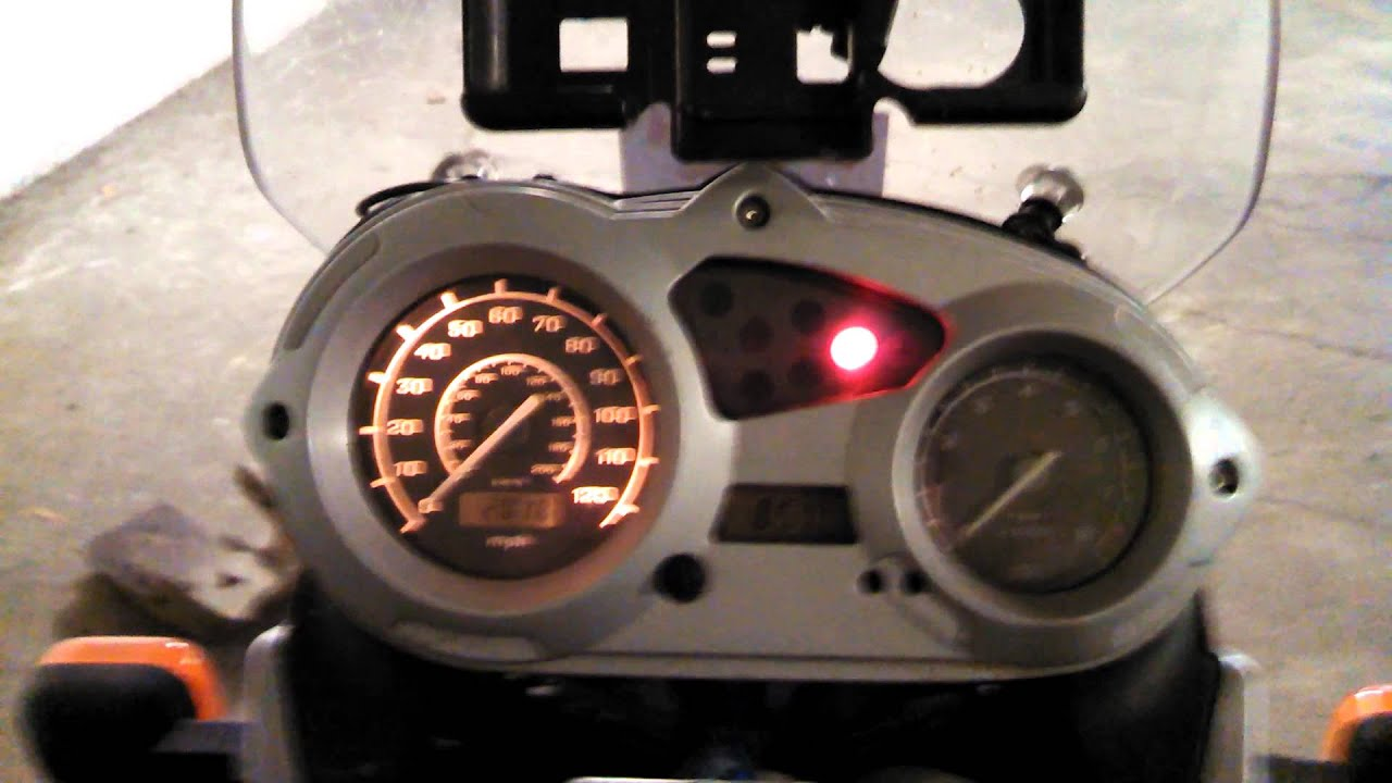 Bmw Warning Lights >> BMW F650 GS startup lights. - YouTube