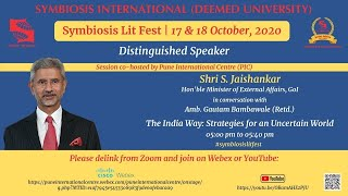 Symbiosis | Shri S. Jaishankar | Book Review |  The India Way- Strategies for an Uncertain World