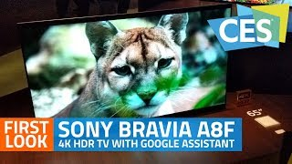 Sony Bravia A8F 4K HDR TV First Look   Android TV with Google Assistant and Alexa