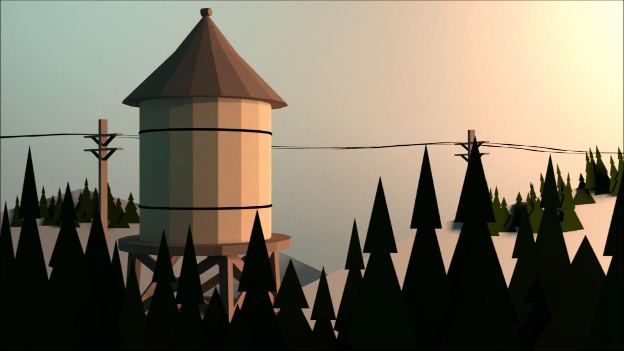 Gravity Falls Wallpaper Blender Low Poly Gravity Falls Water Tower Timelapse