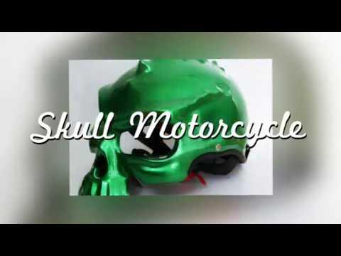 Skull Motorcycle Helmet 15 colors Dual Use