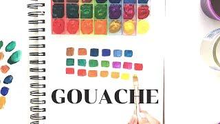 Royal & Langnickel Gouache Set - Swatches - Rainbow Palette