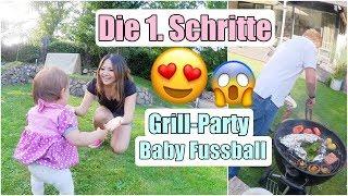 Lili LÄUFT 😭 Live Reaktion von Mama! Babys 1. Schritte | Grill-Party zu Hause | XXL Vlog Mamiseelen