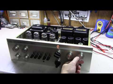 Luxman SQ38FD Tube Amplifier Repair