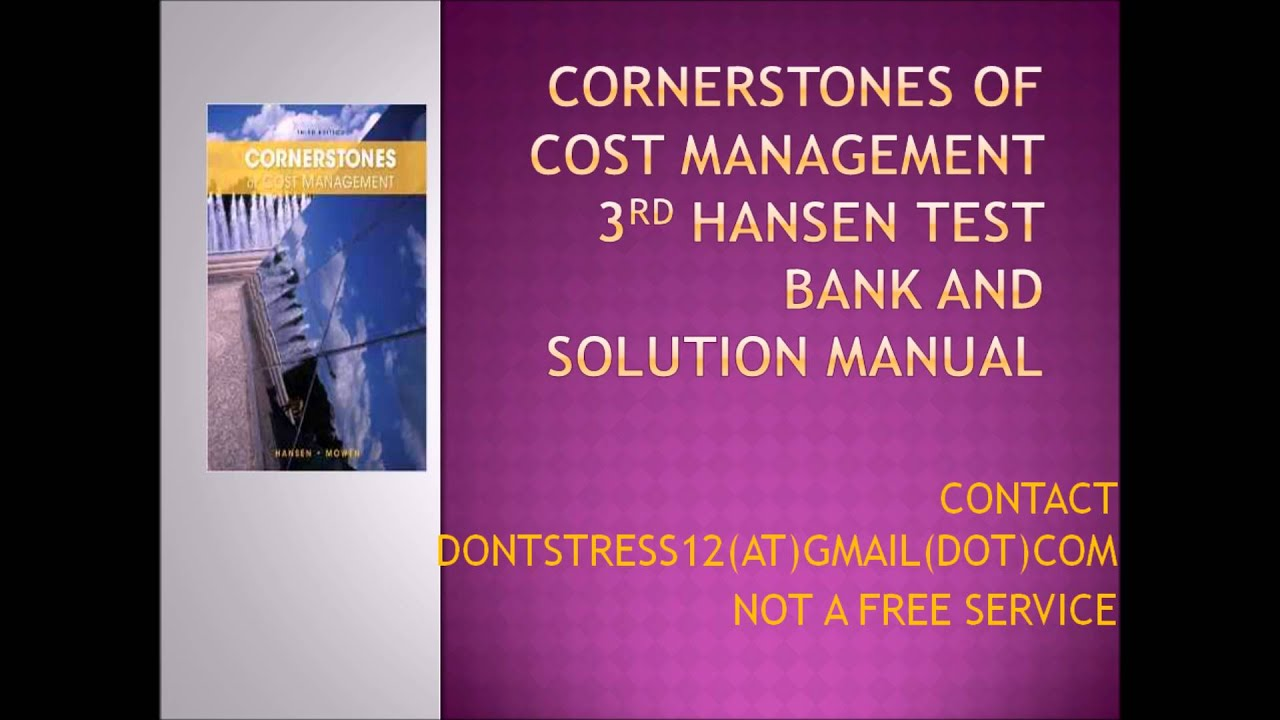 cornerstones of cost management 3rd edition pdf free
