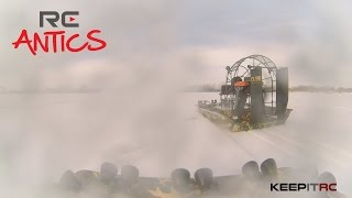 Load Video 3:  RC Antics: Cajun Commander Snow Race