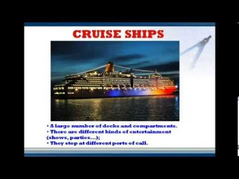 MARITIME ENGLISH - TYPES OF VESSELS - PART 1