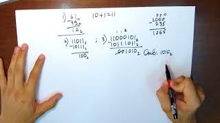 Вычитание в разных система счисления (2, 8, 16). Урок 6
