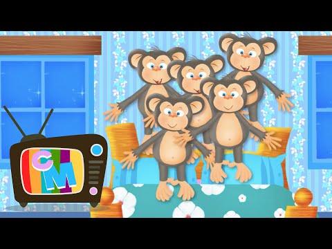 Five little monkeys – Clopotelul Magic – cantece pentru copii – Cantece pentru copii in limba romana