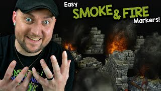EASY 🔥Fire & Smoke Markers 🔥for Dungeons & Dragons and Tabletop Games