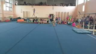 Соревнования по спортивной гимнастике Савинская Ання занила 1 место по 1 взрослому разряду в Химках