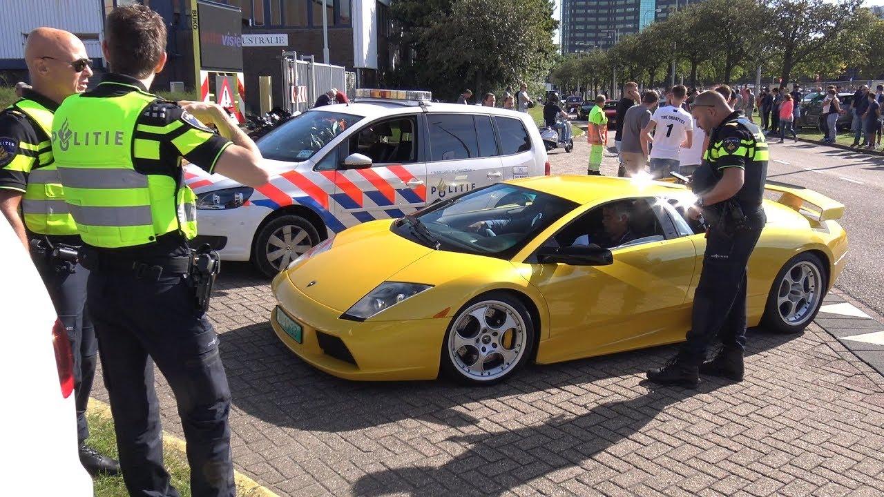Lamborghini Murcielago 6 2 V12 Pulled Over By The Police Youtube