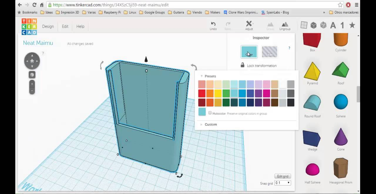 Create a 3d printable business card holder youtube create a 3d printable business card holder reheart Images