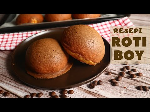Homemade Roti Papa / Roti Boy (How To Make Coffee Bun/ Mexican Bun/ Papa Roti/Roti Boy)