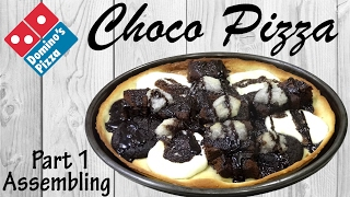 Make Choco Pizza like Domino's at home | Chocolate Pizza | Simply yummylicious..
