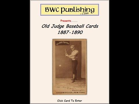 Old Judge Baseball Cigarette Cards 1886-1890