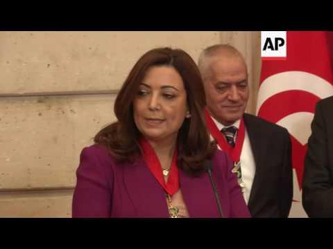 President awards Tunisians Legion d'Honneur