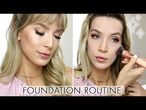 GLOWING FOUNDATION ROUTINE FOR OILY SKIN ✨  FULL COVERAGE