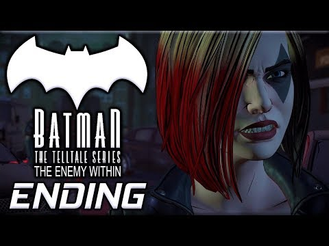 Batman The Telltale Series: The Enemy Within - Bane Or Harley Choice - Episode 2 Ending