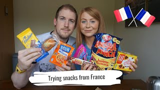 Trying snacks from France