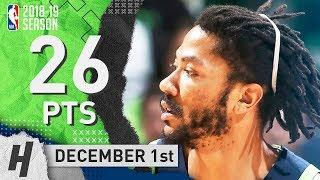 Derrick Rose Full Highlights Timberwolves vs Celtics 2018.12.01 - 26 Pts, 4 Assists!